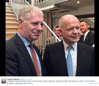 source: C.Mitchell's Brighton Campaign 2014/15 Twitter Account (Mitchel and William Hague, May 2014(?)
