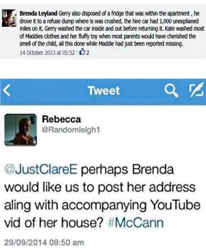 "one of Brenda's post (top 2013) and one of anonymous ""pro""s Rebecca (down 2014)"